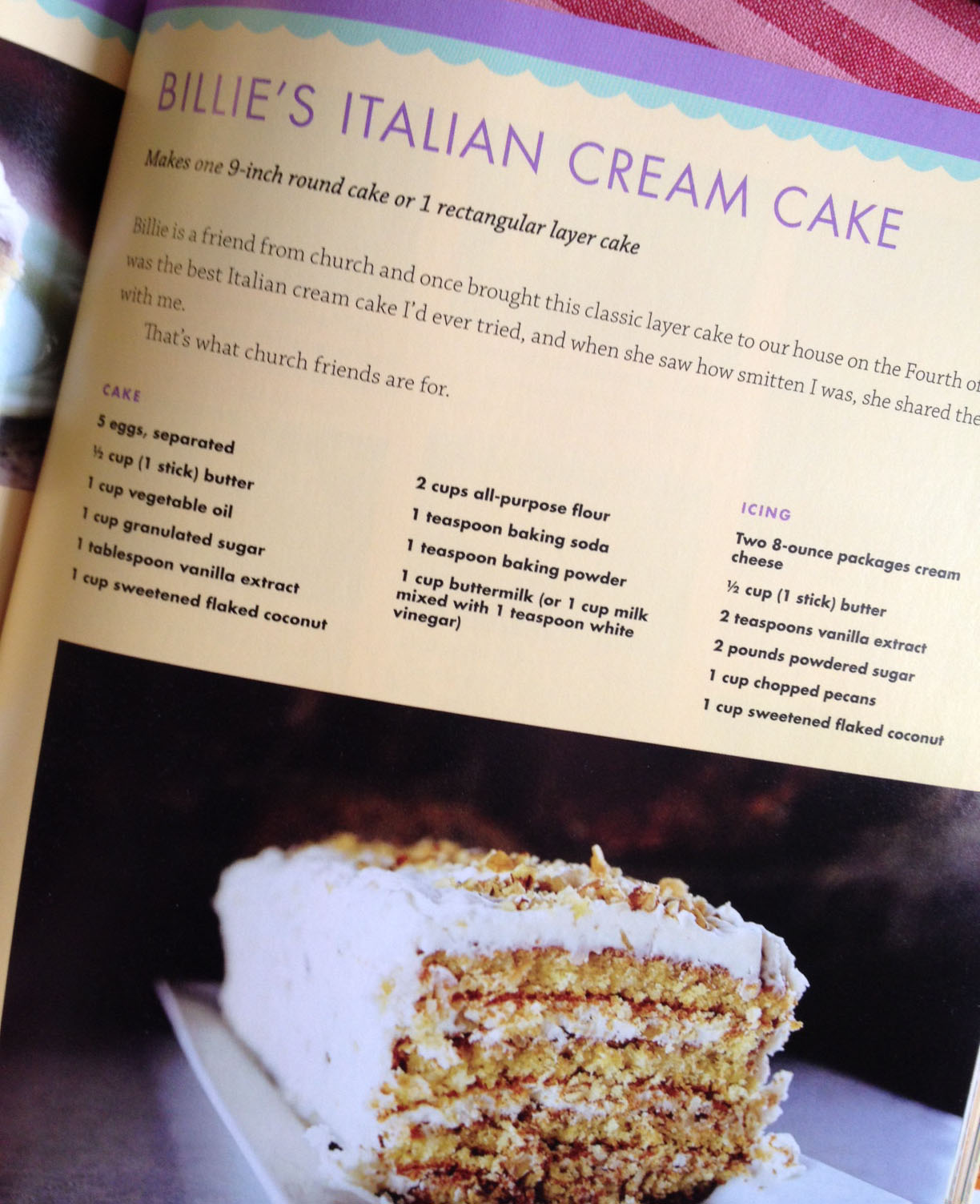 Billie's Italian Cream Cake | Jennifer Michie