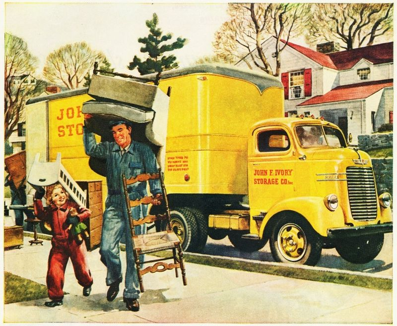 Jennifer Michie Vintage Moving Van