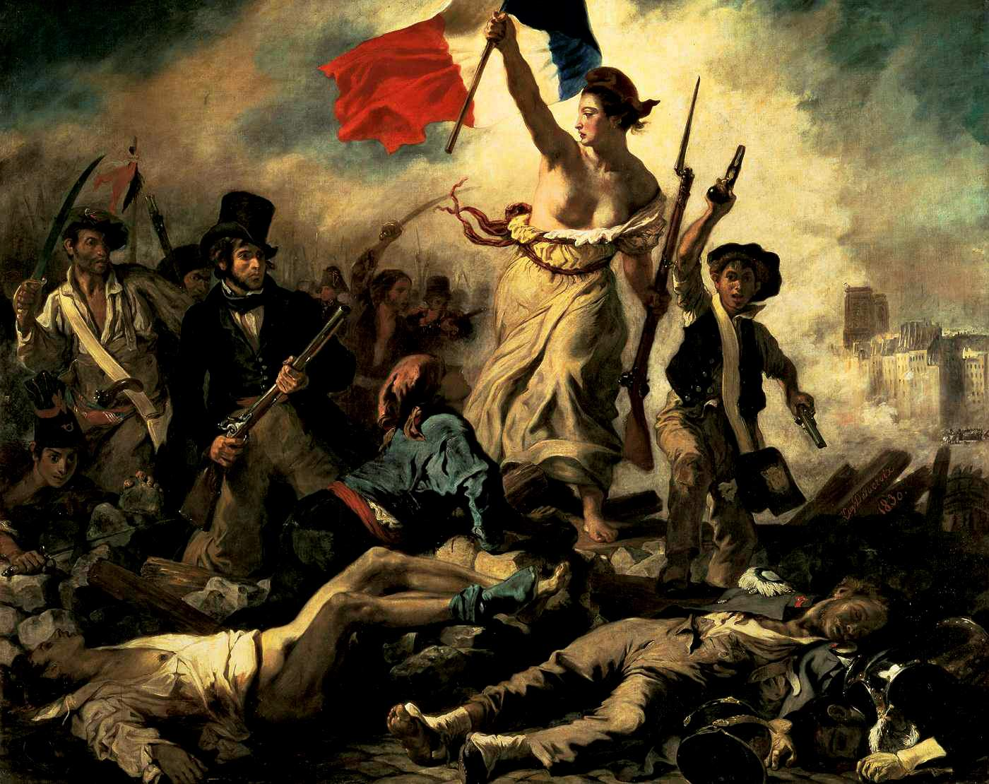 Liberty Leading the People, 1830, by Eugene Delacroix