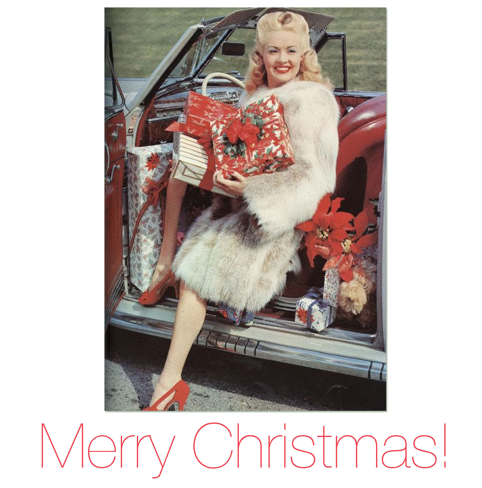 Betty Grable Merry Christmas