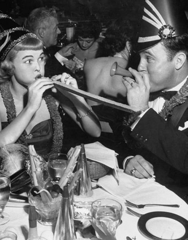 Vintage New Year's Eve Photo