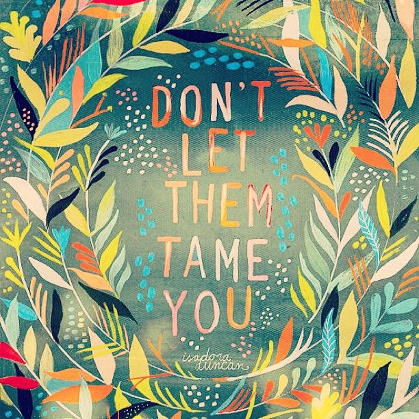 Don't Let Them Tame You