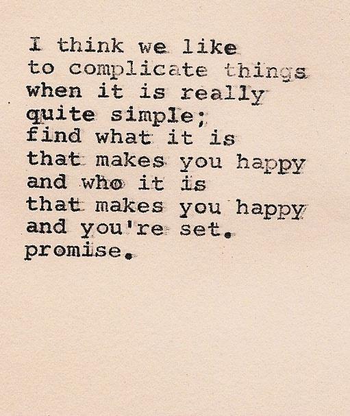 Make things Simple