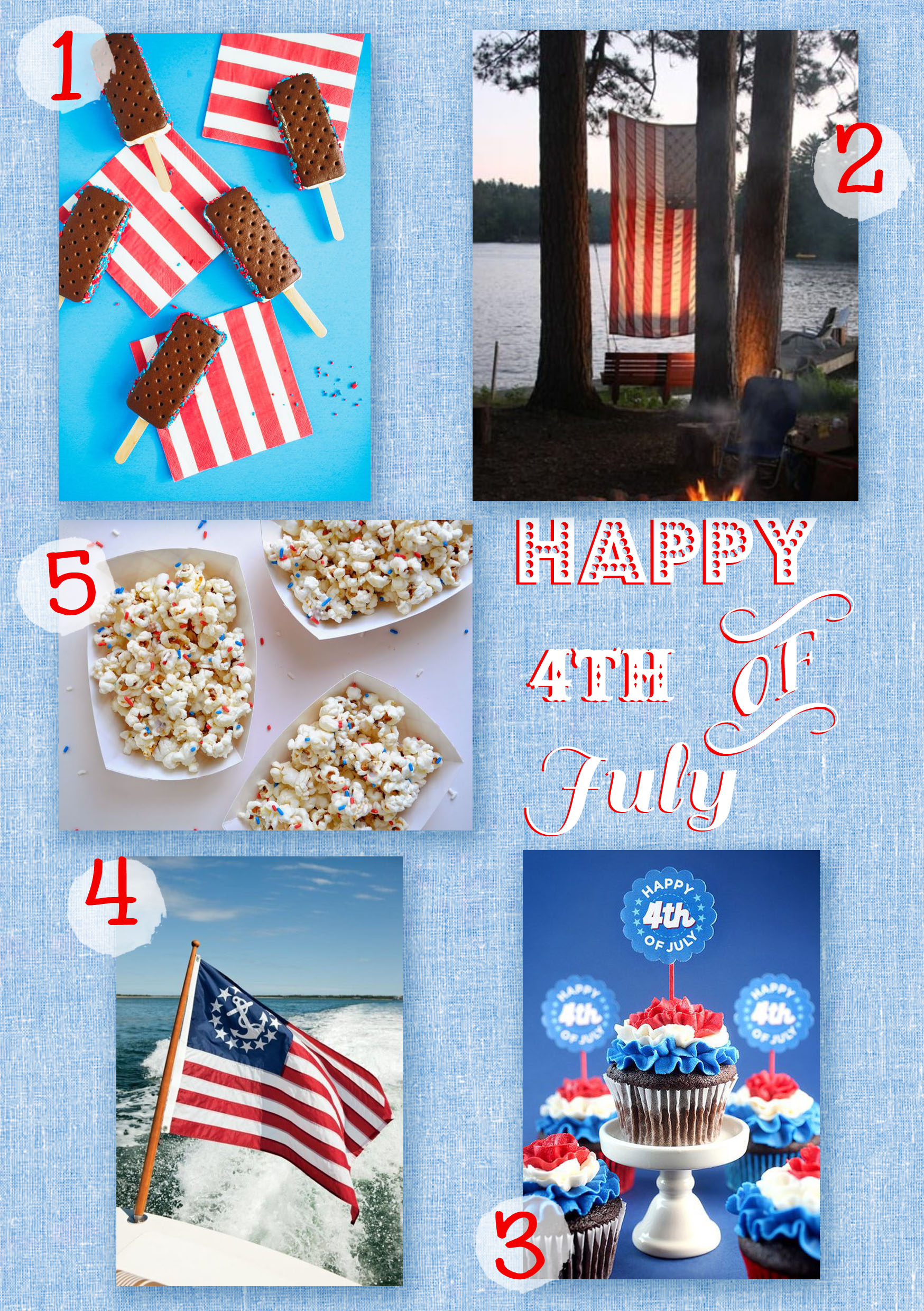 Jennifer Michie 4th of July Pins 2014