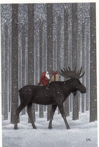 Eva Melhuish Santa and Moose