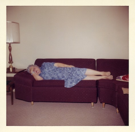 Vintage Photo Sleeping