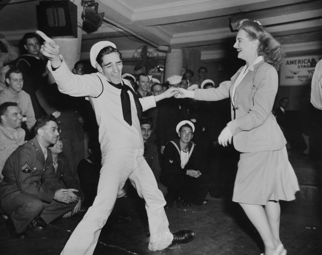 Dancing Sailor and Girl 1940s