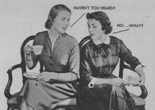 Gossip Girls, 1951. Detail from Niagra Laundry Starch ad