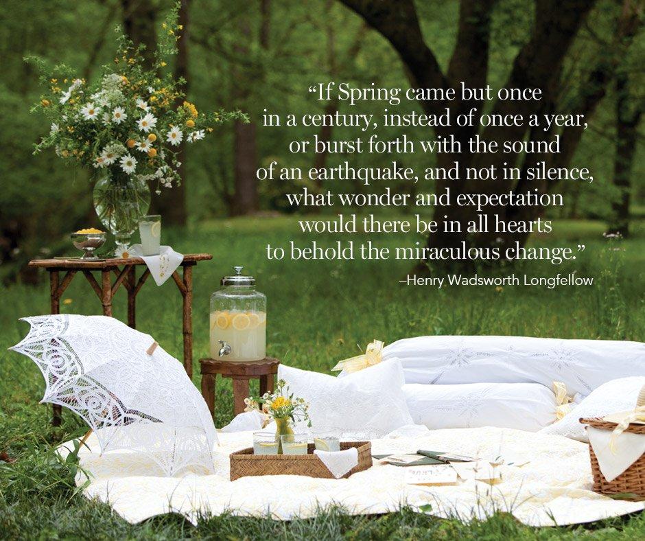 Victoria Magazine Spring Quote