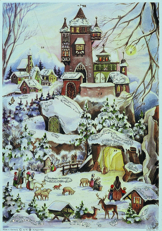 advent calendar bavarian natifvity image image
